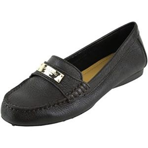 Coach Fredrica Pebbled Leather Black Loafers